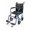 GF Health Lightweight Aluminum Transport Chair, 17, Blue GHI EJ787-1
