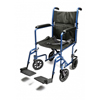 GF Health Lightweight Aluminum Transport Chair, 19, Blue GHI EJ788-1