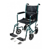 GF Health Lightweight Aluminum Transport Chair, 17, Green GHI EJ789-1