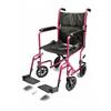 GF Health Lightweight Aluminum Transport Chair, 17, Pink GHI EJ790-1