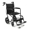GF Health Deluxe Aluminum 19 Transport Chair with 12 Rear Wheel, Black GHI EJ870-1