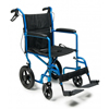GF Health Deluxe Aluminum 19 Transport Chair with 12 Rear Wheel, Blue GHI EJ871-1