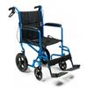 "GF Health: GF Health - Deluxe Aluminum 19"" Transport Chair with 12"" Rear Wheel, Blue"