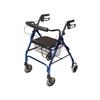 GF Health Lumex® Walkabout Lite Four-Wheel Rollator, Blue GHI RJ4300B
