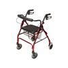 GF Health: GF Health - Lumex® Walkabout Lite Four-Wheel Rollator, Burgundy