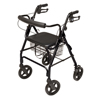 GF Health Walkabout Four-Wheel Contour Deluxe Rollator GHI RJ4805K