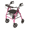 GF Health Walkabout Four-Wheel Contour Deluxe Rollator GHI RJ4805P