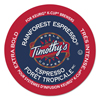 kcups: Timothy's World Coffee Rainforest Espresso Coffee K-Cups