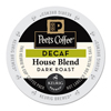 Peet's Peets Coffee  Tea Decaf House Blend K-Cups GMT 6544