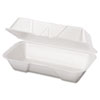 Genpak Foam Hinged Carryout Containers GNP 21600