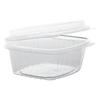Genpak Plastic Hinged-Lid Deli Containers GNP AD12F