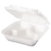 Genpak Foam Hinged Carryout Containers GNPSN243