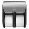 Georgia Pacific Georgia Pacific® Professional Compact® Quad® Vertical Four Roll Coreless Tissue Dispenser GPC 56746A