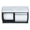 Professional Compact® Coreless Brushed Steel Side-by-Side Double Roll Tissue Dispenser