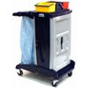 Geerpres Modular Plastic Housekeeping Cart - 201 Base Unit With 3 Top Buckets GPS 201T