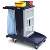 Janitorial Carts, Trucks, and Utility Carts: Geerpres - Modular Plastic Housekeeping Cart - 301B Base Unit With 3 Top Buckets