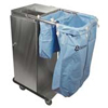 Janitorial Carts, Trucks, and Utility Carts: Geerpres - Escort® Microfiber Stainless Steel Housekeeping Cart