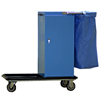 Janitorial Carts, Trucks, and Utility Carts: Geerpres - Escort® Epoxy Coated Housekeeping Cart w/Self Locking Door