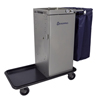 Janitorial Carts, Trucks, and Utility Carts: Geerpres - Genesis™ Stainless Steel Housekeeping Cart