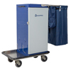 Janitorial Carts, Trucks, and Utility Carts: Geerpres - Genesis™ Powder Coated Microfiber Cart