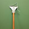 "Mop Handles Quick Change Handles: Geerpres - 48"" Wood Handle Electroplated Mop Holder w/Wire Mop Spring"