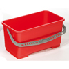 Janitorial Carts, Trucks, and Utility Carts: Geerpres - Flat Mop Bucket, Red - 22 Liter