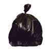 "Waste Can Liners: Heritage Bag® Repro Can Liners - 38"" x 58"", Black"