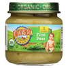 Earth's Best Organic First Peas Baby Food - Stage 1 - Case of 12 - 2.5 oz. HGR 0105445