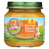 Earth's Best Organic Harvest Turkey Squash Baby Food - Stage 2 - Case of 12 - 4 oz. HGR 0120238