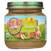 Earth's Best Organic Pears Baby Food - Stage 2 - Case of 12 - 4 oz. HGR 0121251