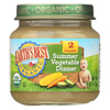Earth's Best Organic Summer Vegetable Dinner Baby Food - Stage 2 - Case of 12 - 4 oz. HGR 0126953
