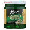 Reese Cherry - Maraschino - Green with Stems - Case of 12 - 10 oz. HGR 0171488