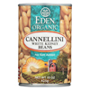 Ring Panel Link Filters Economy: Eden Foods - Organic Cannellini White Kidney Beans - Case of 12 - 15 oz.