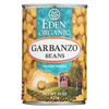Ring Panel Link Filters Economy: Eden Foods - Organic Garbanzo Beans - Case of 12 - 15 oz.