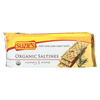 Organic Saltines - Rosemary and Sesame - Case of 12 - 8.8 oz.
