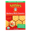 Clean and Green: Annie's Homegrown - Crackers - Organic - Buttery Rich Classic - 6.5 oz. - case of 12