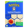 Clean and Green: Annie's Homegrown - Organic Saltine Classic Crackers - Case of 12 - 6.5 oz.