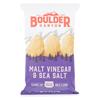 Natural Foods Kettle Chips - Malt Vinegar and Sea Salt - Case of 12 - 5 oz.