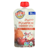 Earth's Best Organic Pumpkin Cranberry Apple Baby Food Puree - Stage 3 - Case of 12 - 4.2 oz. HGR 0911503