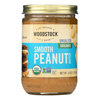 Woodstock Organic Peanut Butter - Smooth - Unsalted - Case of 12 - 16 oz.. HGR0101071