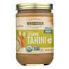 Woodstock Organic Tahini - Unsalted - Case of 12 - 16 oz.. HGR0101170