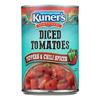 Kuner Diced Tomatoes - Chili Spices - Case of 12 - 14.5 oz.. HGR0102038