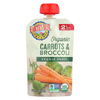 Earth's Best Organic Carrots and Broccoli Baby Food Puree - Stage 2 - Case of 12 - 3.5 oz. HGR 01196856