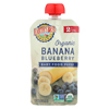 Earth's Best Organic Banana Blueberry Baby Food Puree - Stage 2 - Case of 12 - 4 oz. HGR 01232370