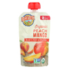 Earth's Best Organic Peach Mango Baby Food Puree - Stage 2 - Case of 12 - 4 oz. HGR 01232388