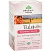 Organic India Tulsi Tea Raspberry Peach - 18 Tea Bags - Case of 6 HGR 126086