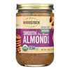Woodstock Organic Almond Butter - Smooth - Unsalted - Case of 12 - 16 oz.. HGR0140194