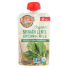 Earth's Best Organic Spinach Lentil Brown Rice Veggie and Protein Puree - Case of 12 - 3.5 oz. HGR 01507441