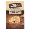 Multi Seed Rice Thin Crackers - Brown Rice, Sesame Seeds, Poppy Seeds and Flax Seed - Case of 12 - 4 oz.
