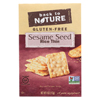 Sesame Seed Rice Thin Crackers - Rice and Sesame Seeds - Case of 12 - 4 oz.
